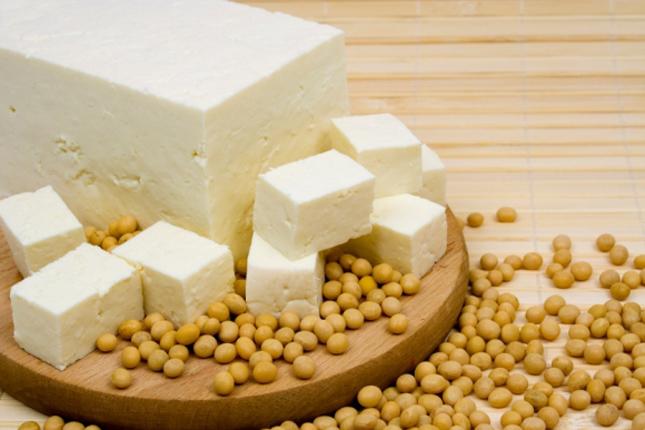 szójabab és tofu