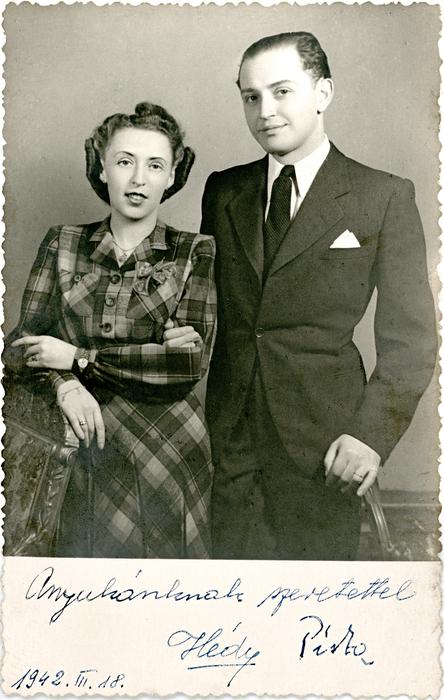 Erdei Istvánné és férje 1942-ben