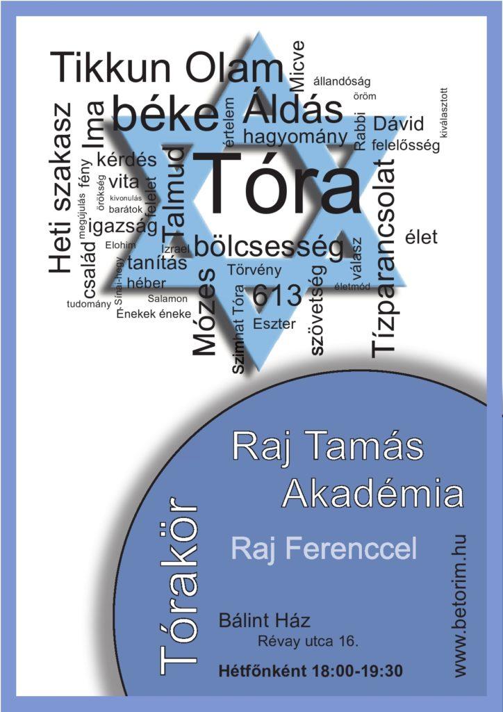 RAJ TAMÁS AKADÉMIA: TÓRAKÖR/BIBLIAISKOLA