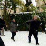 Bibi-Sarah-Netanyahu-snowball-fight-Jerusalem-2013