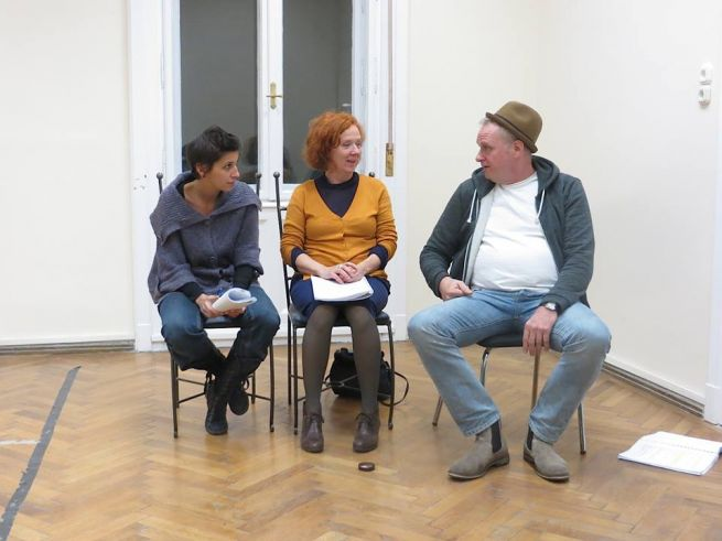 Bánfalvi Eszter, Takács Kati, Balikó Tamás próbál