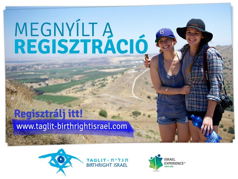 Megnyílt a regisztráció a nyári Taglit-Birthright utakra!