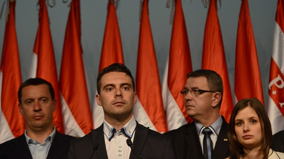 Vona Gábor és a Jobbik (fotó: Fazekas István)