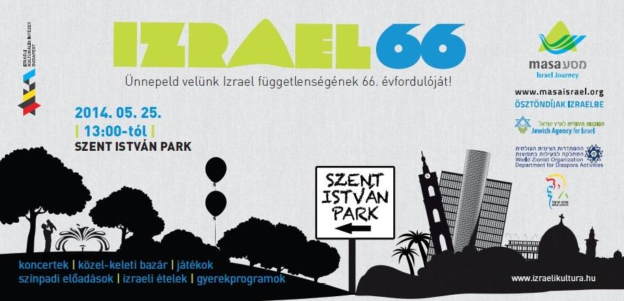 Izrael 66 – Ünnepeld Izrael függetlenségének 66. évfordulóját a Szent István parkban