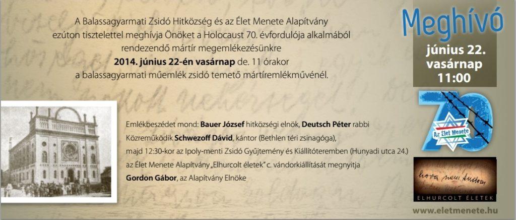 """""""Elhurcolt életek"""" kiállítás – Balassagyarmaton"""