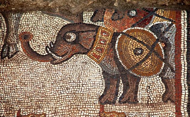 Elefánt a freskón