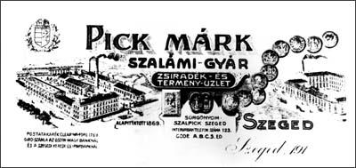 1883 Pick Márk szalámigyár