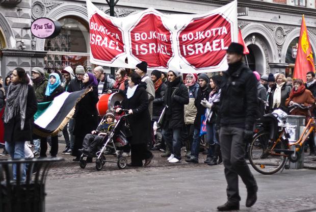 Izrel-ellenes tüntetés Malmöben