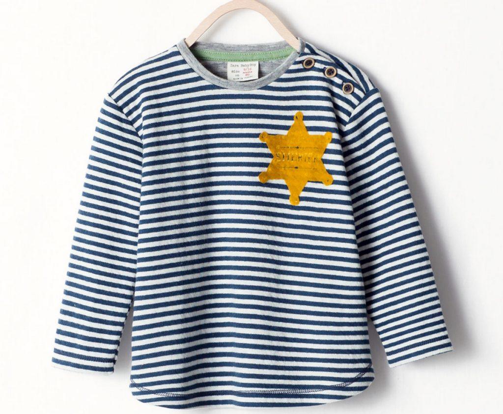 Sárga csillagos gyerekpólót árult a Zara