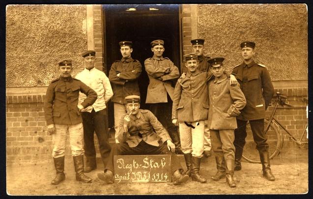Német zsidó katonák egy csoportja
