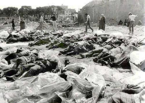 Személyesen követte meg a palesztinokat egy 1956-os vérengzésért az izraeli államelnök