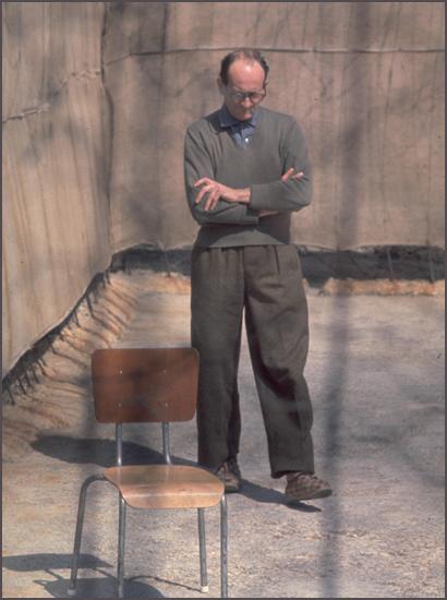Eichmann a tárgyalás alatt a börtönben