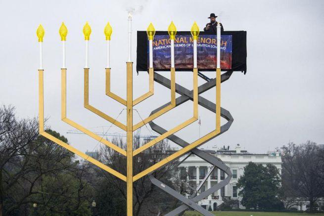 Washington a Fehér Ház előtt...