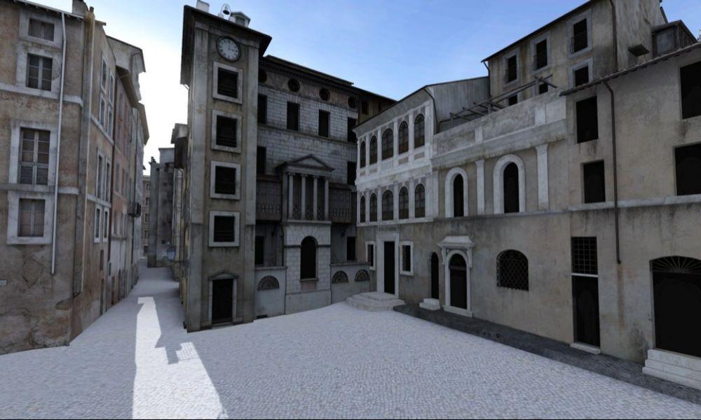 Virtuálisan, 3D-ben újraépítették a római zsidó negyedet