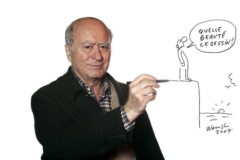 A meggyilkolt Georges Wolinski zsidó karikaturista képei