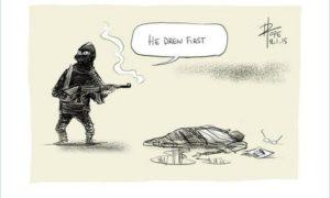 Megrázó karikatúrák a Charlie Hebdo munkatársainak emlékére