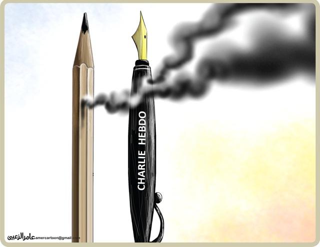 Arab karikaturisták is reagáltak a Charlie Hebdo elleni merényletre