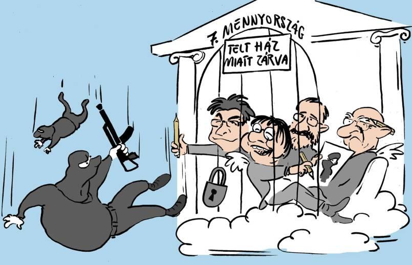 Zsidók túllőttetek a célon! Pápai Gábor karikaturistát fenyegető hívás érkezett a Kibichez