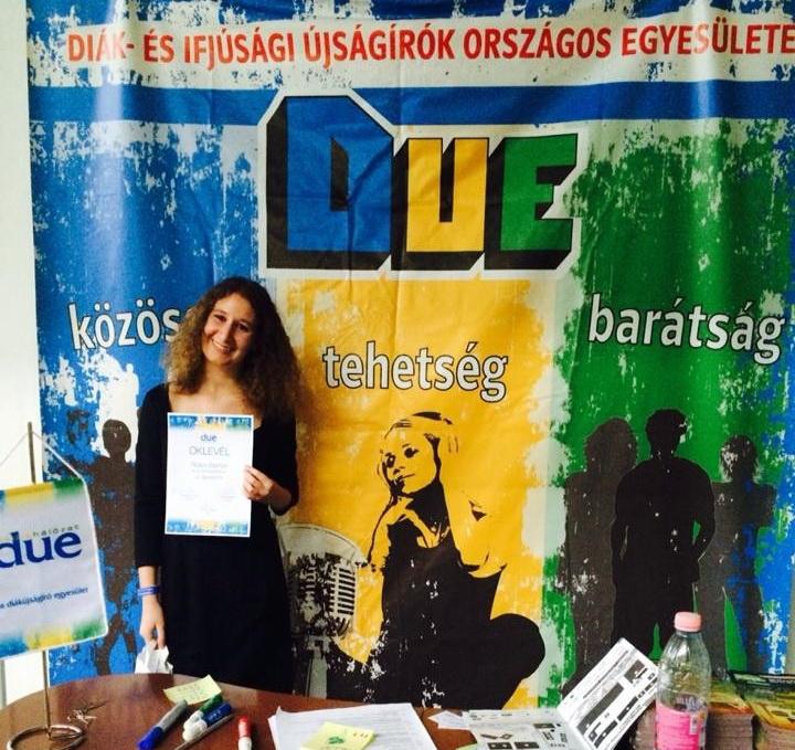 Kollégánk 2. helyezett lett az Év diákújságírója versenyen