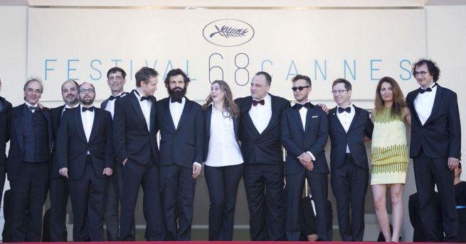 Saul fia stábja Cannes-ban