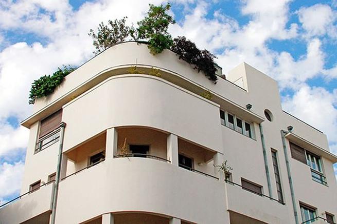 Bauhaus stílusú ház Tel-Avivban