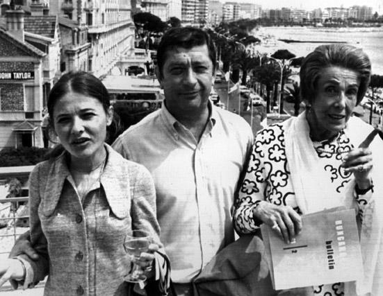 Törőcsik Mari, Makk Károly és Darvas Lili a Szerelem bemutatója után Cannes ban