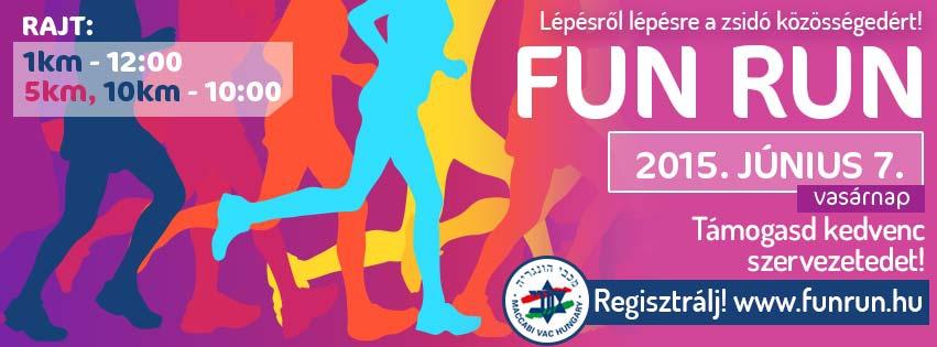 Most vasárnap Fun Run! Lépésről lépésre a zsidó közösségedért!