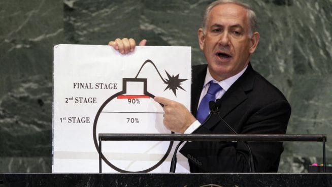Benjámin Netanjahu az iráni atomprogram veszélyeire figyelmeztet
