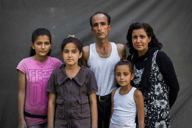 Menekültek: Jara, Szidra, Mohamed, Neszri, Hend Szíriából /Fotó: Déri Miklós