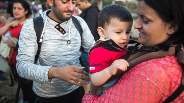 Izraeli segélyszervezet a magyar határnál