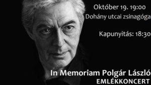 Polgár László emlékkoncert a Dohány utcai zsinagógában