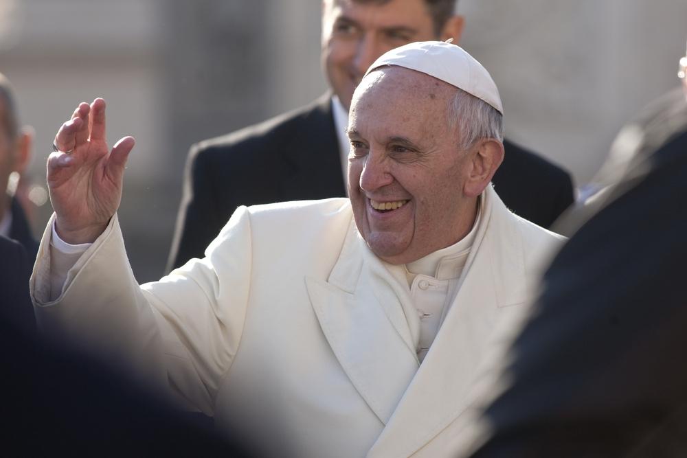 A Zsidó Világkongresszus küldöttsége Ferenc pápánál
