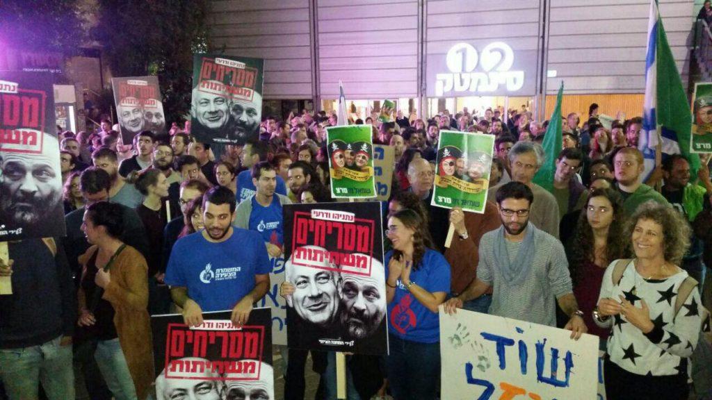 Tízezren tüntettek Izraelben Netanjahu gázkitermelési koncessziója ellen