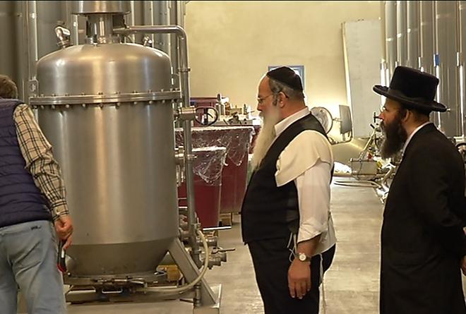 Rabbik készítik – kóser bor Mád mellett