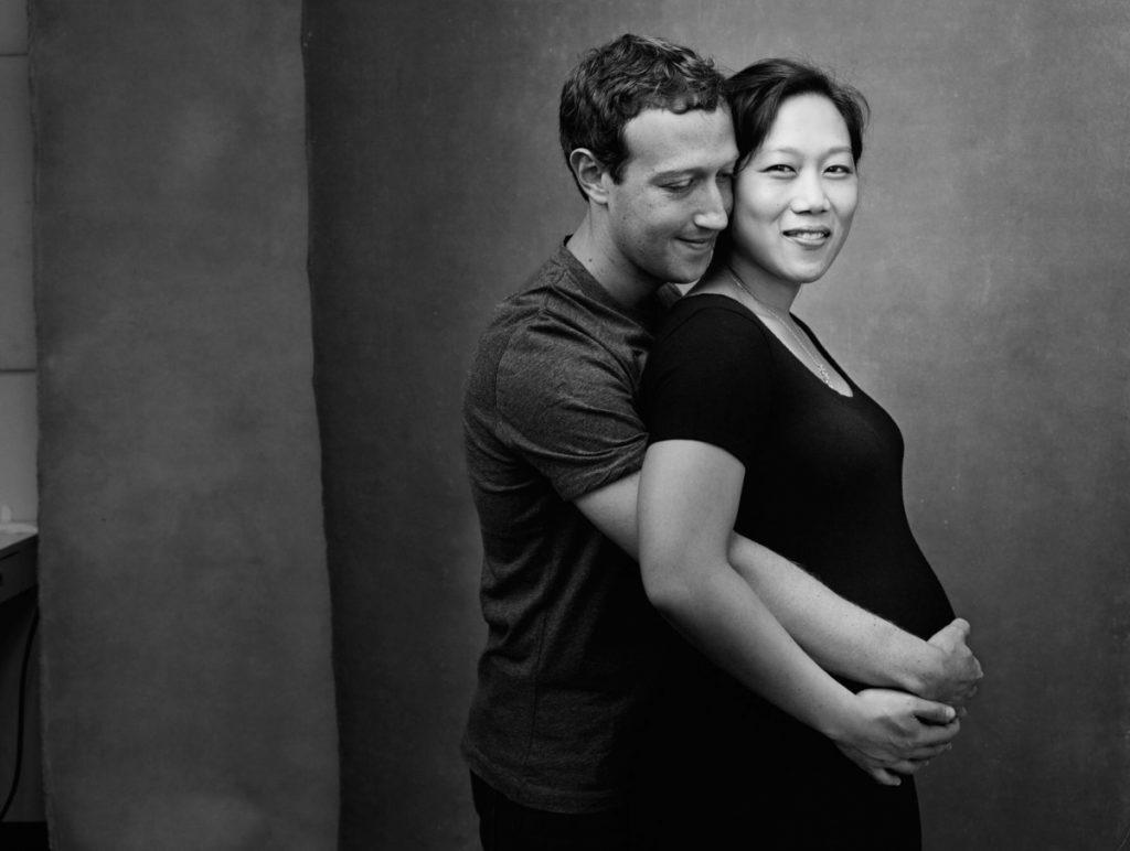 Zuckerberg megható fotót posztolt várandós feleségével