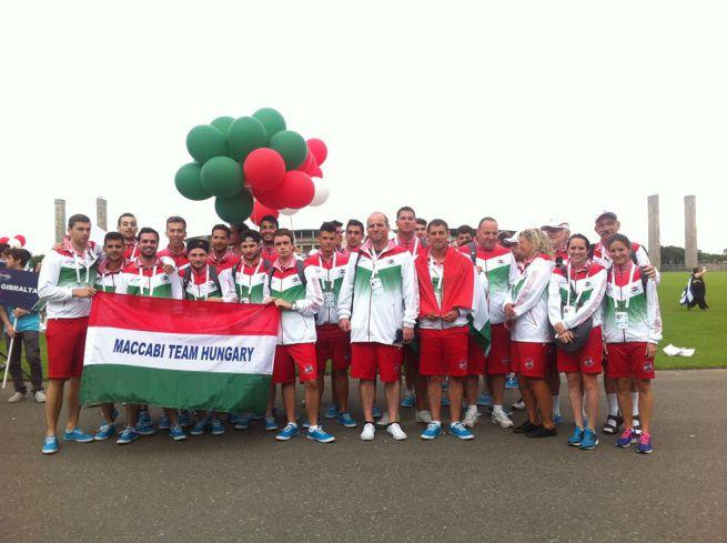 A magyar delegáció a berlini Európai Maccabi Játékokon