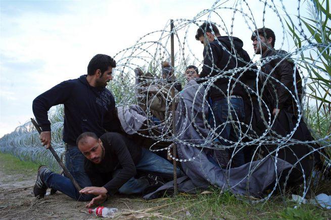 Menekültek a szerb-magyar határon probálnak átjutni