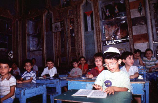 Zsidó iskolások Damaszkuszban 1991-ben