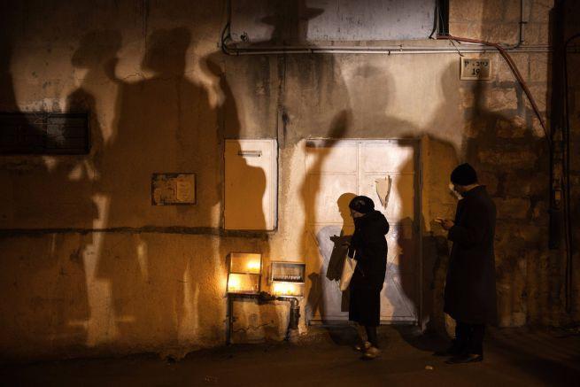 Hanuka Jeruzsálem egyik vallásos negyedében