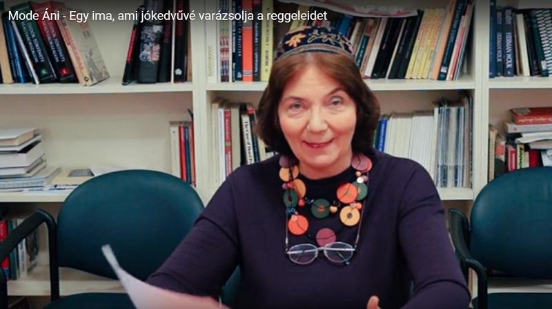 Mindennapi imák: Mode/modá áni – Kelemen Katalin rabbi kurzusának videofelvétele I. rész