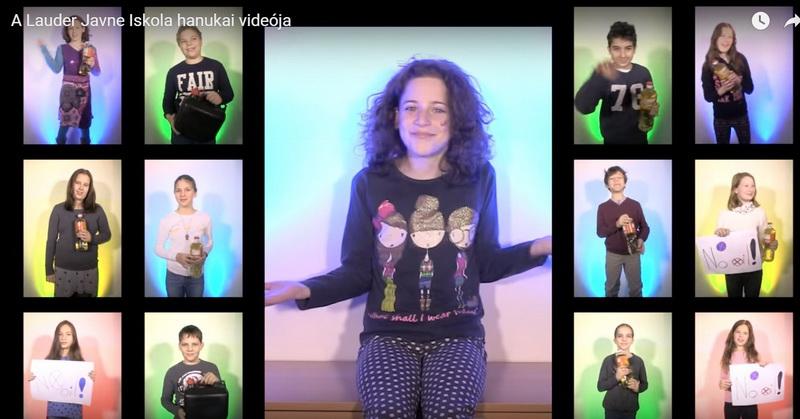 Menő hanukai videó a lá Lauder