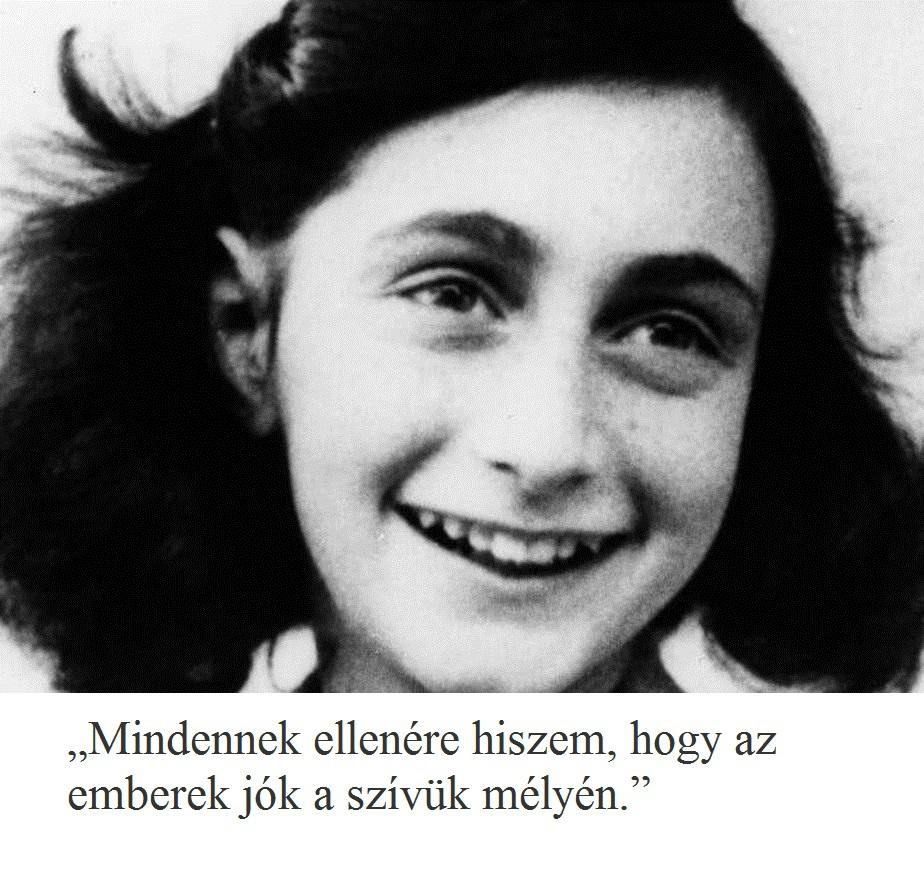 5 emlékezetes idézet Anne Franktól