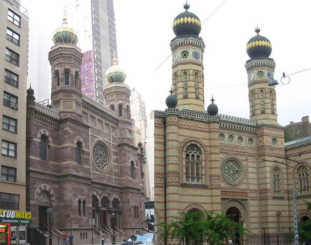 New Yorkban áll a Dohány utcai zsinagóga majdnem pontos mása