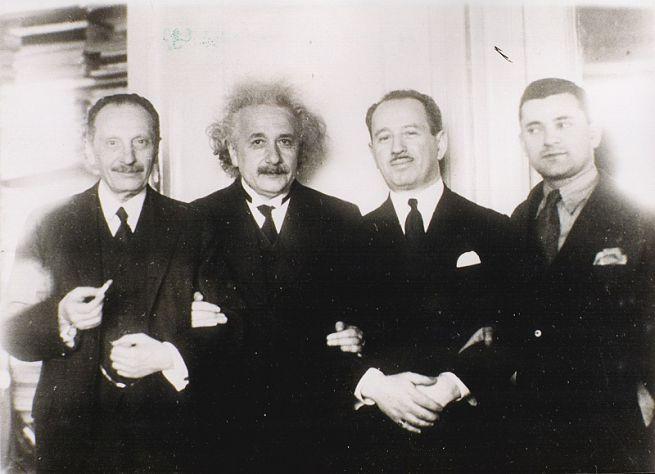 Einstein és Bachmann (Bachmann a jobb oldalán) - Forrás: Centropa Alapítvány
