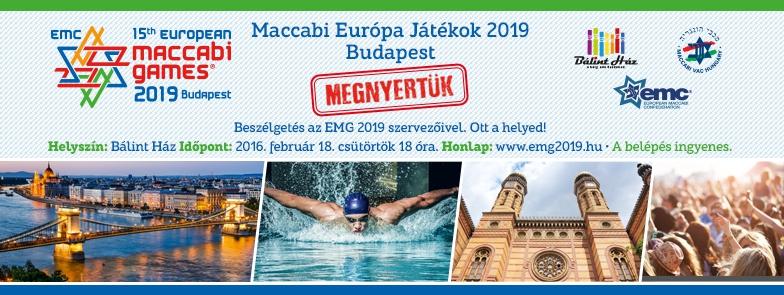 Beszélgetés a Maccabi Európa Játékokról a Bálint Házban