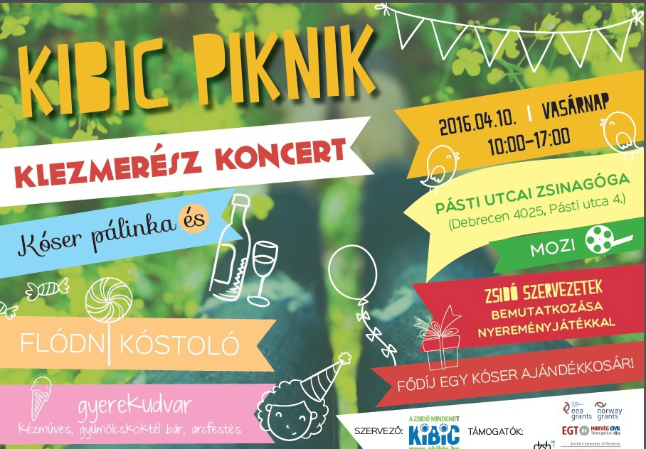 Kibic Piknik a zsidó kultúráért Debrecenben