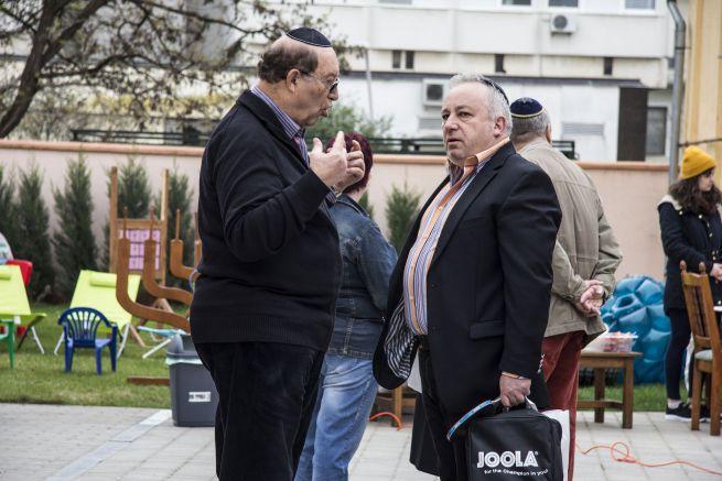 Garai Péter (Klezmerész együttes) és Horovitz Tamás, a Debreceni Hitközség elnöke