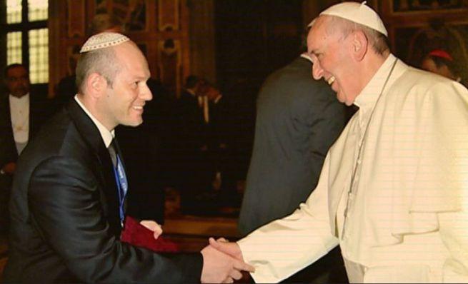 Róna Tamás rabbi Ferenc pápával