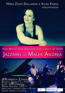 Híres magyar zsidó dalszerzők este Malek Andreával és a Jazzrael zenekarral