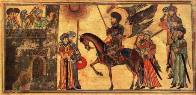 Mohamed a legyőzőtt zsidók behódolását fogadja